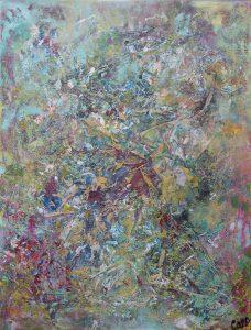 Dechirure, 2001, techniques mixtes sur toile, 60,96cm x 76,2cm