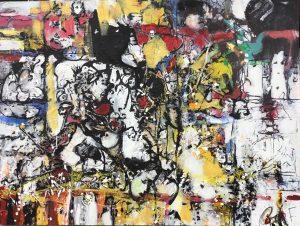 Il était une fois, 2016, acrylique sur toile, 91,44cm x 121,92cm