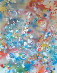 Le chevalier, 2002, acrylique en aérosol sur toile, 60,96cm x 91,44cm
