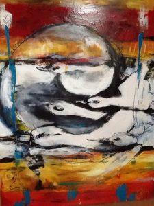 L'envol #2, acrylique sur toile, 91,44cm x 121,92 cm