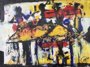 Les danseuses, 2013, acrylique sur toile, 45,72 cm x 60,96cm