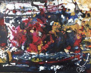 Lueur d'espoir et de liberté, acrylique sur toile, 45,72cm x 60,96cm