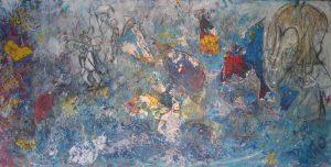 Mon ange, 2004, techniques mixtes sur toile, 60,96cm x 121,92cm