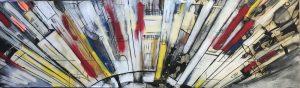 Reflet d'une ville #4, 2018, acrylique sur toile, 60,96cm x 205,74cm