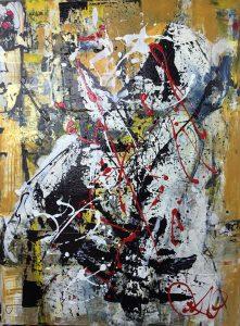 Rupture, 2015, acrylique sur toile, 91,44cm x 121,92cm - Carof