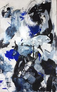 Trouble, 2015, acrylique sur toile, 76'2cm x 121,92cm