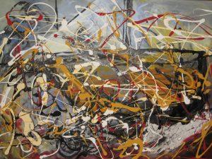 Voyage, 2013, acrylique sur toile, 60,96cm x 76,2cm