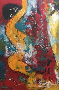 Sans titre, acrylique sur toile, 121,92cm x 182,88cm